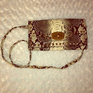 Snake patterned purse